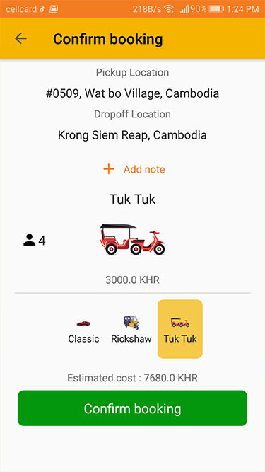 Taxi Mobile App Development Cambodia